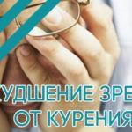Ухудшение зрения от курения: причины
